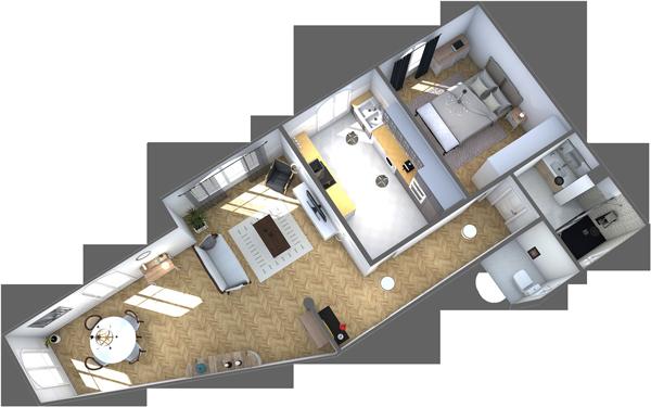 Modèle 3D Immobilier